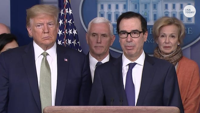 Steve Mnuchin said the coronavirus impact on the airline industry is 'worse than 9/11.'