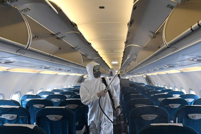 Airlines have been performing enhanced sanitation on their planes to lessen the risk of passengers becoming infected.