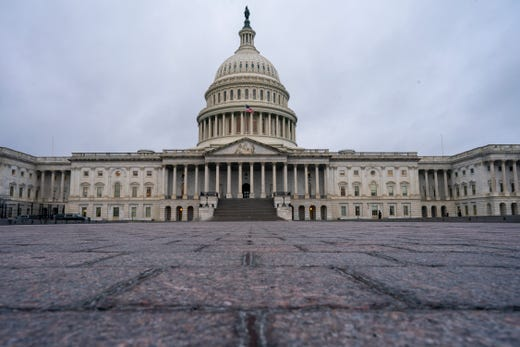 The East Plaza of the Capitol is seen early March 13, 2020, in Washington, after the complex was shut down to tourists and non-essential visitors.