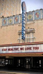 For now, all events at Abilene's downtown Paramount Theatre are canceled. The marquee Wednesday was used to encourage Abilene during the city-wide coronavirus shutdown.