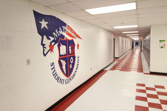 Hallways are empty inside Madison High School after Governor Roy Cooper shuttered public schools in North Carolina for a minimum of two weeks effective March 16. Local school officials are planning, and expecting, the closure to last longer.