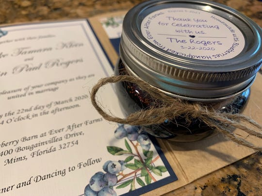 Brooke Klein made jars of blueberry jam to give out as wedding favors. Now she has 92 jars that won't keep until her wedding can be rescheduled.
