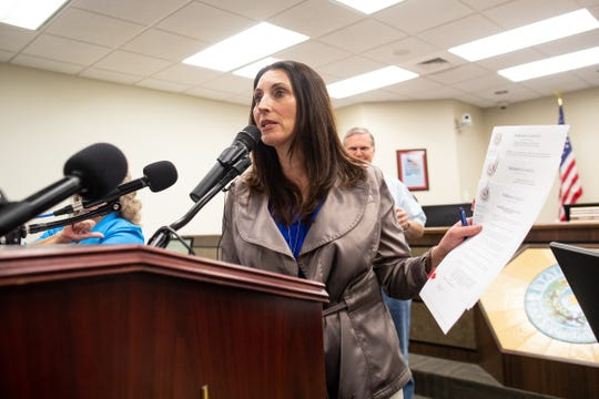 Nueces County Judge Barbara Canales speaks during a press conference after extending the disaster declaration indefinitely for Nueces County during an emergency meeting of the Nueces County Commissioner's Court on Wednesday, March 18, 2020.