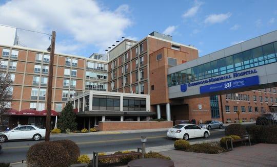 View of Underwood Memorial Hospital in Woodbury in 2009.