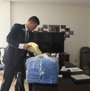 Bissler and Sons Funeral Home and Crematory in Kent COVID-19 preparations. Nathan Billow, funeral director and Executive Vice President and Treasurer, explains the extra precautions taken at the funeral home, including surgical gowns to be worn when collecting a deceased person at a private home or senior living home.