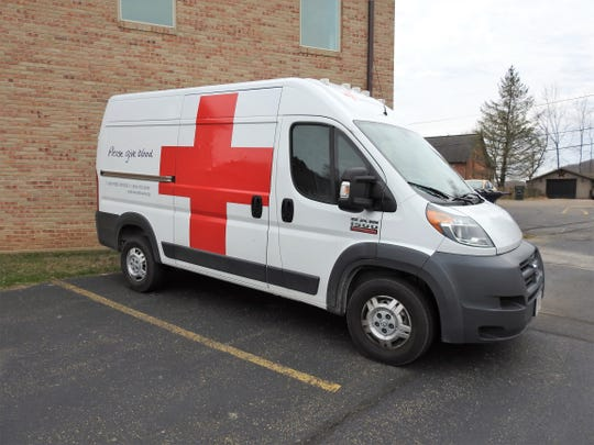 An American Red Cross van outside Roscoe United Methodist Church on Wednesday where a blood drive was held. The Red Cross has put out a critical call for blood donors. COVID-19 has not affected demand for blood, but the supply based on many drives being cancelled.