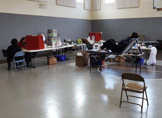 A blood drive was held in the gymnasium of Roscoe United Methodist Church. The American Red Cross has put out an urgent call for donors due to many drives being cancelled related to COVID-19 issues.