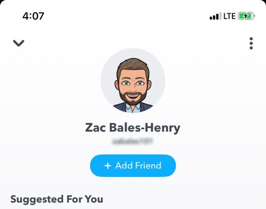 Former Windsor Heights Councilman Zac Bales-Henry on Snapchat.