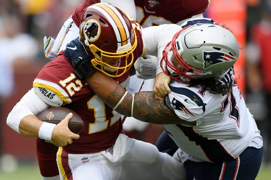 Defensive tackle Danny Shelton (71) set career highs last season with 61 tackles and three sacks.
