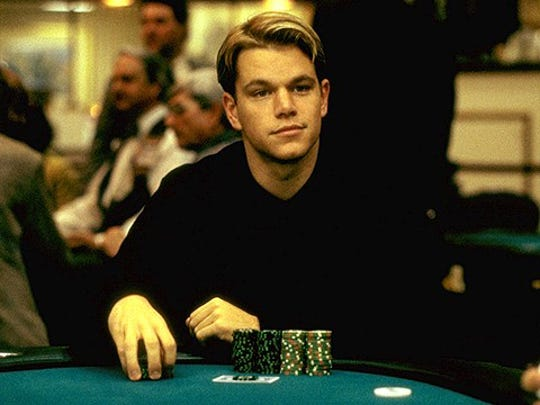 "Matt Damon in ""Rounders."""