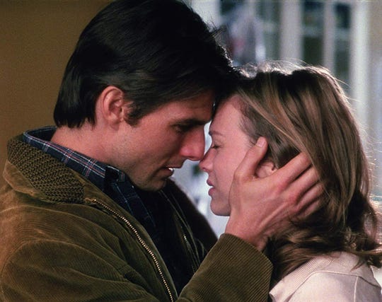 """Tom Cruise and Renée Zellweger in """"Jerry Maguire."""""""