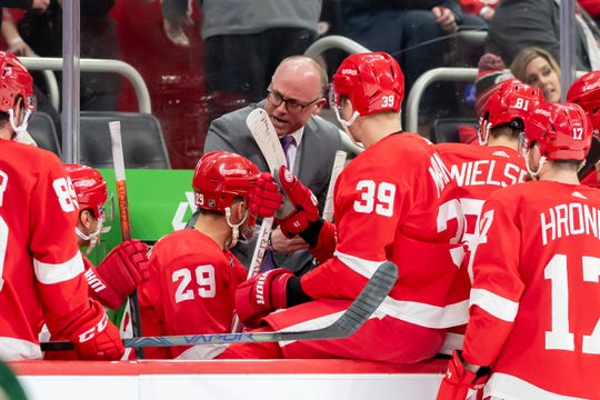 Head coach Jeff Blashill and the Red Wings have 11 games remaining in the regular season.