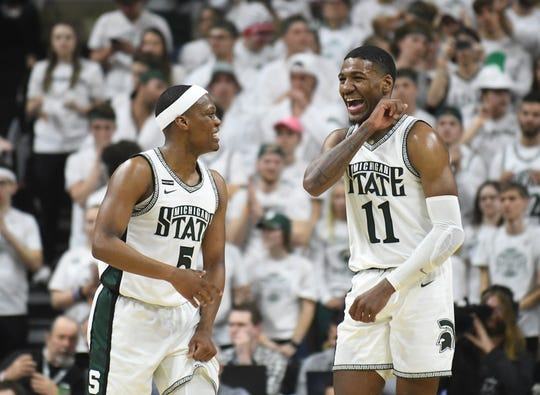 Michigan State finished at No. 9 in the Associated Press Top 25 poll, released Wednesday.