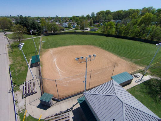 The Golfmoor Baseball Field sits empty - this may be a common sight this season as starting dates for youth baseball and softball associations continue to get pushed back.