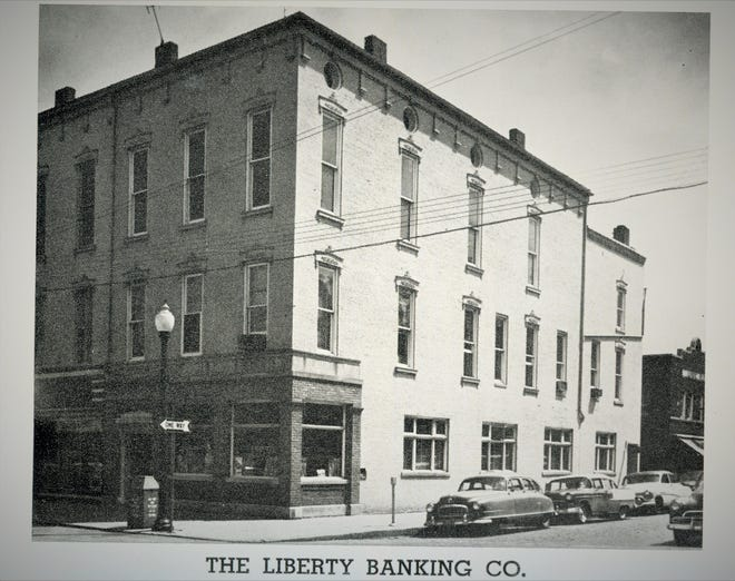Fremont's Liberty Banking Company as seen in 1956.