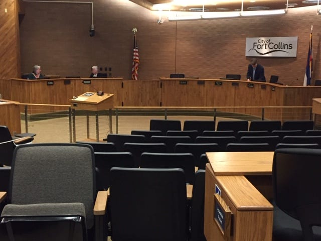 The public was restricted from Fort Collins City Council chambers Tuesday, March 17,  after several council members, the mayor and city manager were in quarantine after being exposed to the coronavirus.