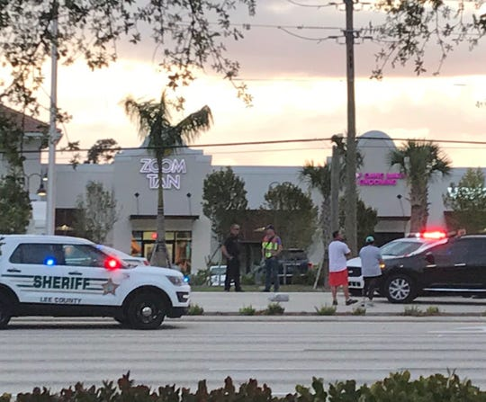 A Bonita Springs woman was killed Tuesday night when she was hit by a car while walking across U.S. 41 in Estero.
