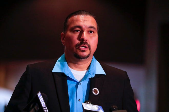Oneida Nation Chairman Tehassi Hill was reelected Saturday as chairman of the Oneida Nation Business Committee.