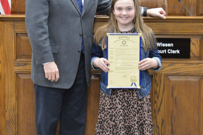 Mary Claire Forker is Niagara Elementary's Judge's Scholar for March 2020.  She is the 10-year-old daughter of Dawn and Kale Forker. She is in the fifth-grade.