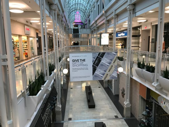 Empty walkways about an hour before the temporary closure of Circle Centre Mall, amid fears over COVID-19, Indianapolis, Wednesday, March 18, 2020.