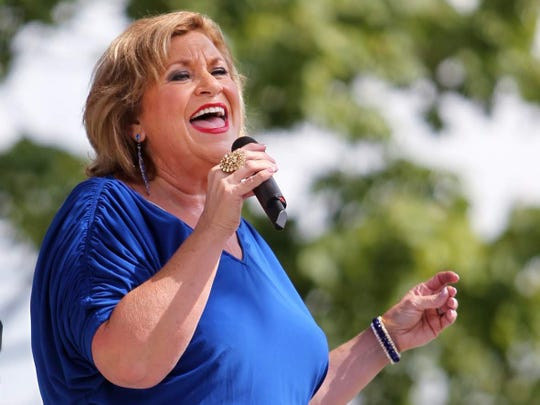 Sandi Patty performs on the Free Stage at the Indiana State Fair, Tuesday, August 14, 2012.