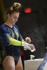 Hartland's Ashlyn Shudick was second all-around at gymnastics regionals.