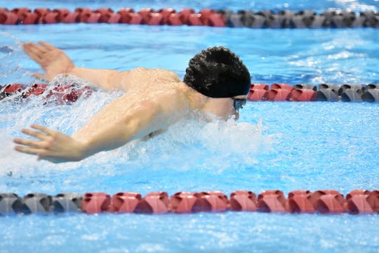 Howell's Hunter Gubeno was looking forward to adding to his two state swimming championships.