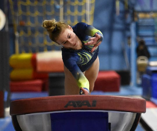 Ashlyn Shudick and her Hartland gymnastics teammates qualified for the state meet by winning a regional championship.