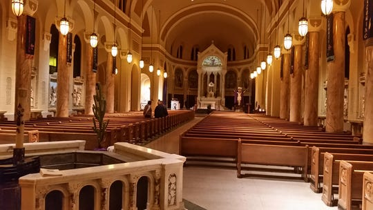 Saint Agnes Church on a morning following Mass during Lent in 2017
