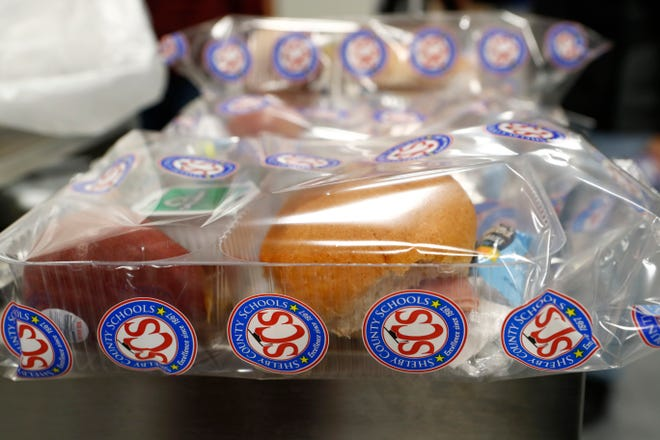 Packaged meals put together at Shelby County Schools' nutrition service center on March 18, 2020, were to go to students in need when the school closed for coronavirus. The district suspended the plan on Friday, March 20, 2020, when an employee tested positive for coronavirus.