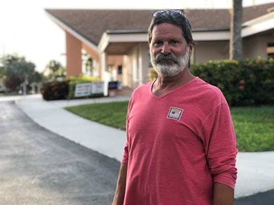 Mike Hoeflinger voted for President Donald Trump at the Marco Lutheran Church polling location on March 17, 2020.