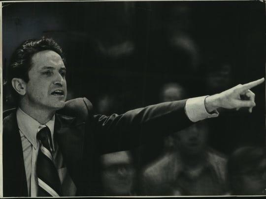Al McGuire directs Marquette in the 1973-74 season.