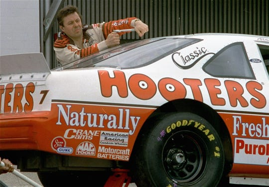 Despite a budget half the size of competitors', owner-driver Alan Kulwicki of Greenfield won the 1992 title. Here he's shown working on his car March 26, 1993, prior to qualifying for the TranSouth Financial 500 race at Darlington Raceway in South Carolina.