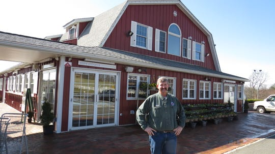Kurt Alstede is seen outside his family's store. Responding to community needs during the coronavirus crisis, Alstede Farms in Chester has expanded its fresh retail market hours while spring crops grow in the fields.