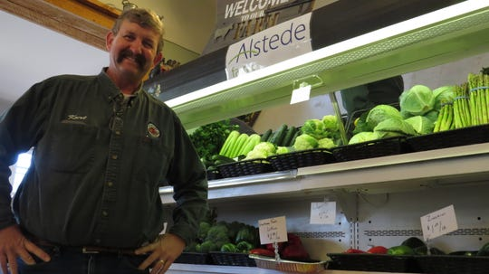 Kurt Alstede is seen inside his family's store. Responding to community needs during the coronavirus crisis, Alstede Farms in Chester has expanded its fresh retail market hours while spring crops grow in the fields.