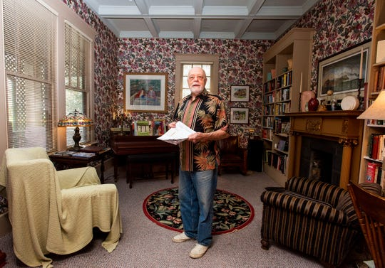 Jim Yeaman talks about cancellations at his Lattice Inn Bed and Breakfast in Montgomery, Ala., on Wednesday morning March 18, 2020. The coronavirus outbreak is hurting. Many small businesses.