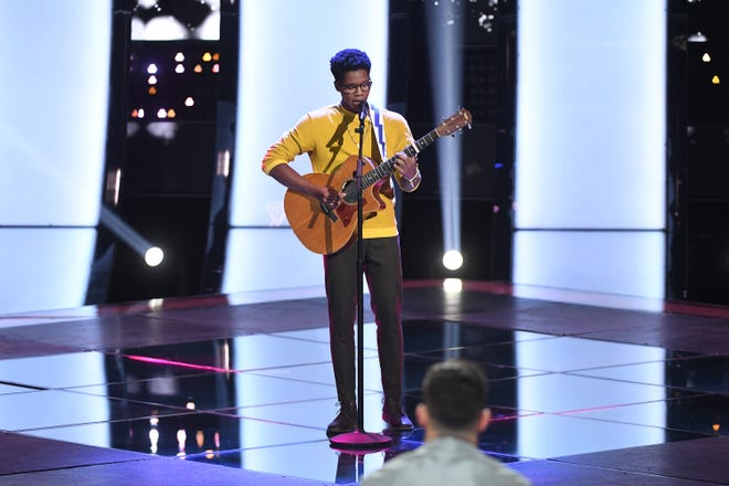 "THE VOICE -- ""Blind Auditions"" Episode 1803 -- Pictured: Thunderstorm Artis -- (Photo by: Mitchell Haddad/NBC)"