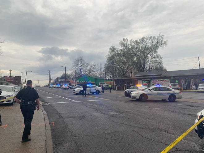 Police are searching for suspect after a female was shot in North Nashville on Wednesday.
