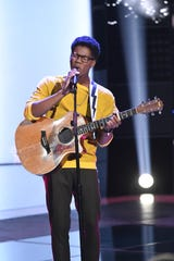 """THE VOICE -- """"Blind Auditions"""" Episode 1803 -- Pictured: Thunderstorm Artis -- (Photo by: Mitchell Haddad/NBC)"""