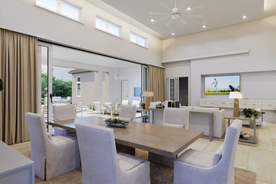 London Bay Homes' furnished Martinique model residence in Lucarno is being featured during CBIA's 2020 Parade of Homes that ends today at Mediterra.