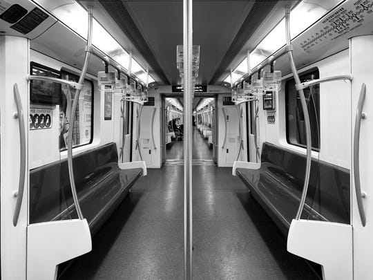 The subways empty in Shanghai