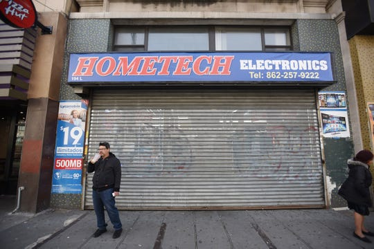 Right after Paterson Police Sgt. Ed Morillo gave a warning at the electronic store, which is just across the street from Paterson City Hall, the store closed down Wednesday on 03/18/20.