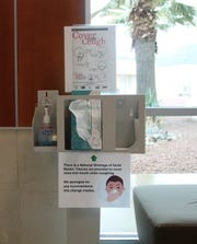 Gerald Champion Regional Medical Center has changed things including the hand sanitizing station near the hospital's main entrance.  If a face mask is requested, it can be found upon request at the GCRMC front desk.