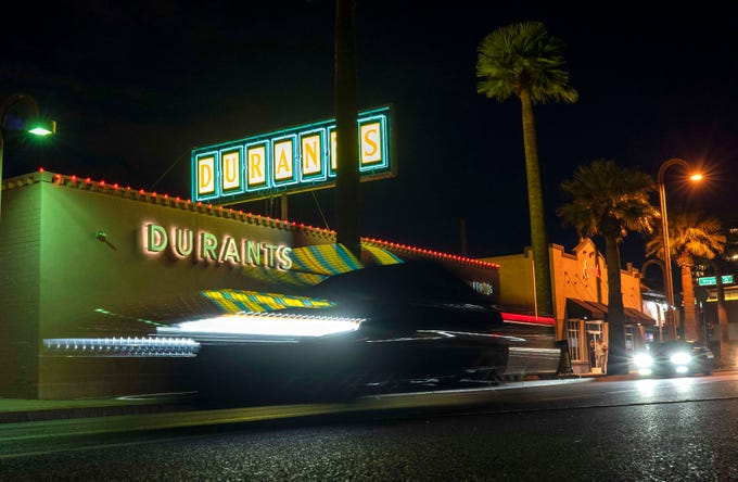 Durant's and other Phoenix restaurants will close due to the new coronavirus. Phoenix Mayor Kate Gallego announced on Tuesday the city was declaring a state of emergency, forcing the closure of bars and moving restaurants to takeout, delivery and drive-thru only starting at 8 p.m. Tuesday.
