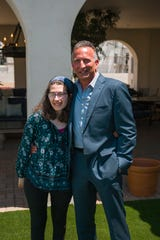 Mark Roth and his daughter Emma, who inspired the concept for the development