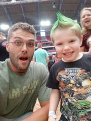 Peoria single dad Joshua McGeathy, 37, said a decline in Uber ridership amid the coronavirus has put his car and his job in jeopardy. His son Jonathan is now six.