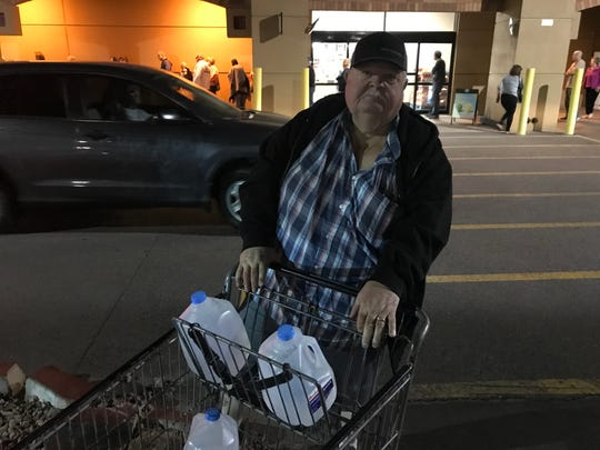 Many seniors lined up outside the Bashas' grocery store at Higley and Brown roads in Mesa about 4 a.m. on March 18, 2020, hoping to stock up on supplies.