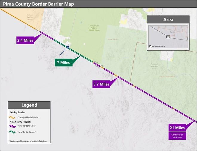 Us Border Wall Map Border Patrol waives laws for border wall construction in southern