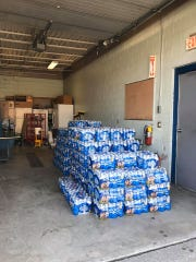 The National Guard dropped off supplies in Dutchess County, such as water bottles, as seen on Tuesday, March 18, 2020.