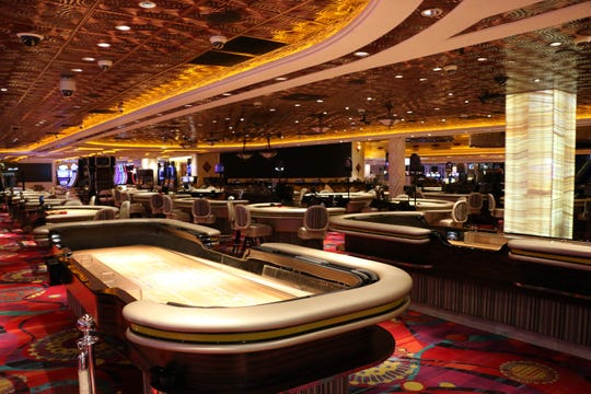 The Peppermill Resort Spa & Casino closes under orders from the Nevada Gaming Control Board on March 18, 2020.